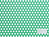 カラー樹脂 ライトグリーン(PVC) 3t×D10×P15 60°チドリ 開孔率40.3%