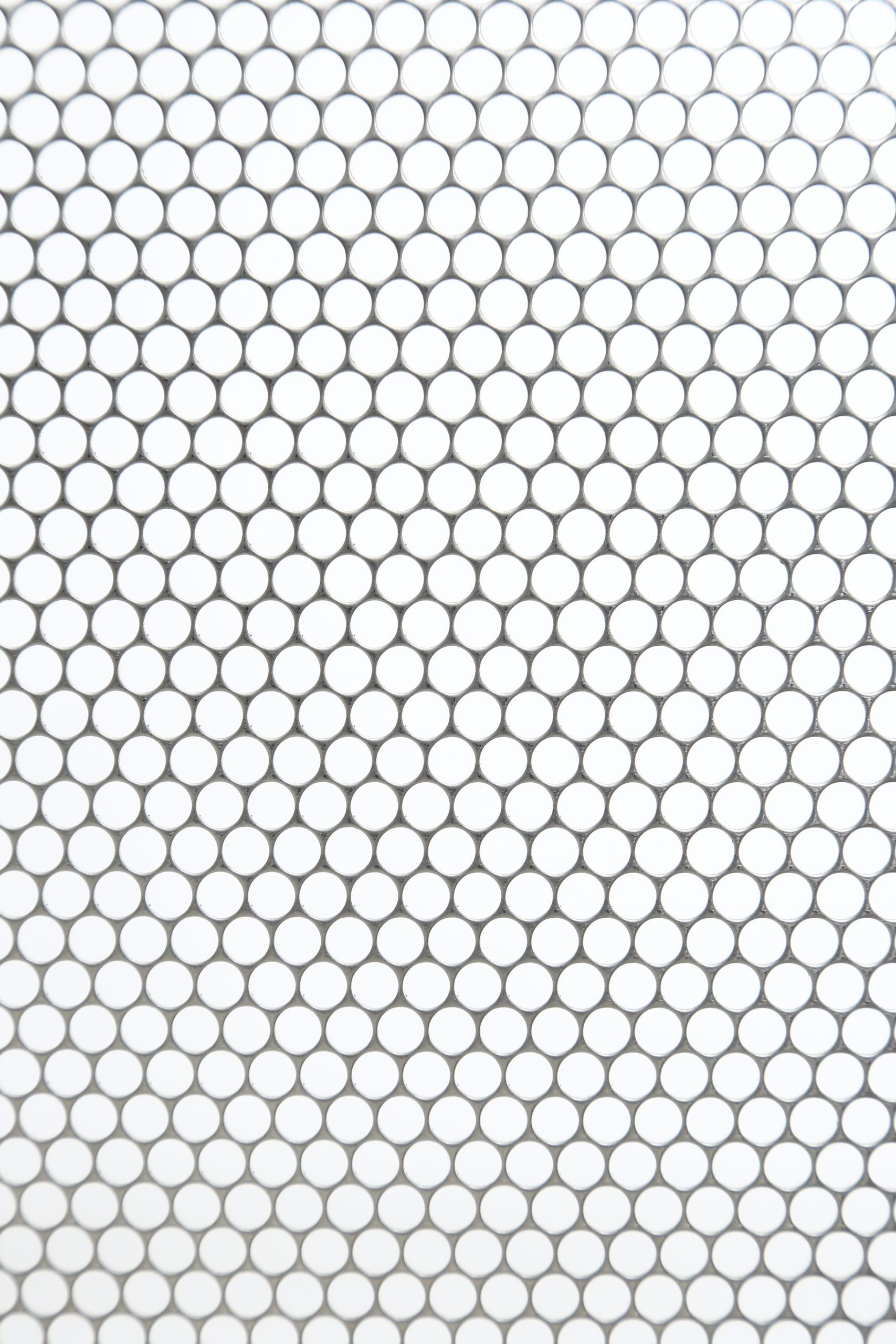 SUS 304-2B t1.0 丸孔 D5×P5.5 60°チドリ 開口率:74.9%