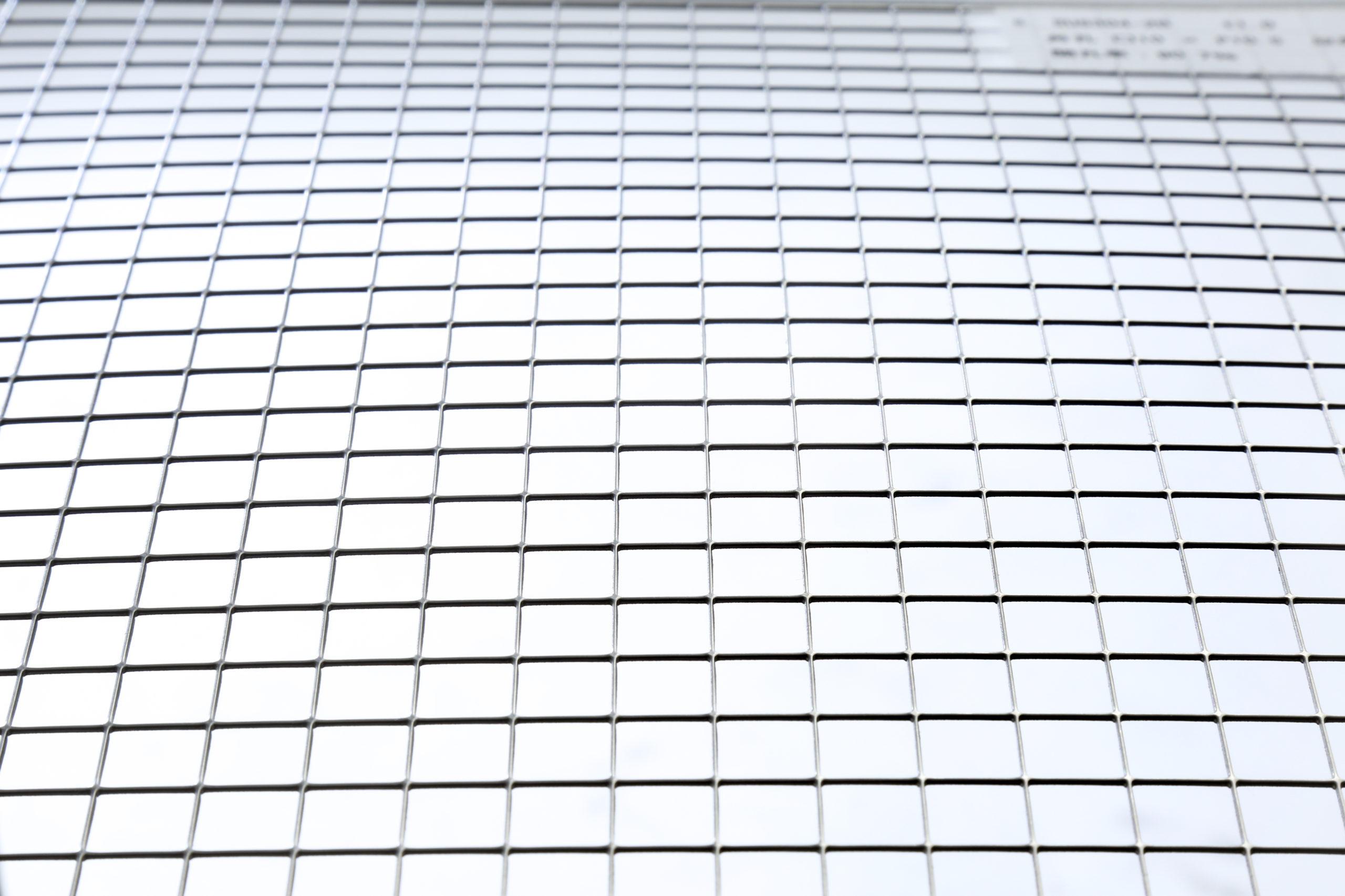 SUS 304-2B t1.0 角孔 □10×P10.5 並列 開口率:90.7%