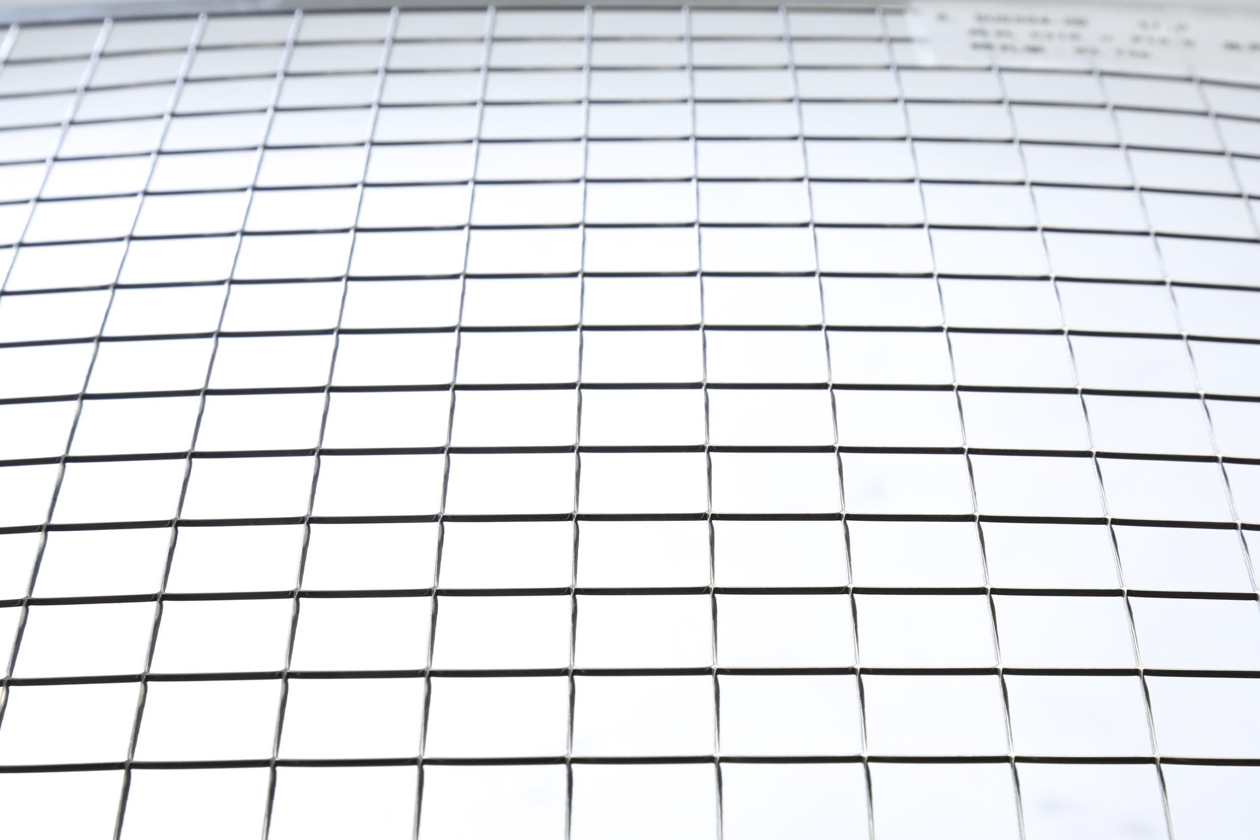 SUS 304-2B t1.0 角孔 □15×P15.5 並列 開口率:93.7%