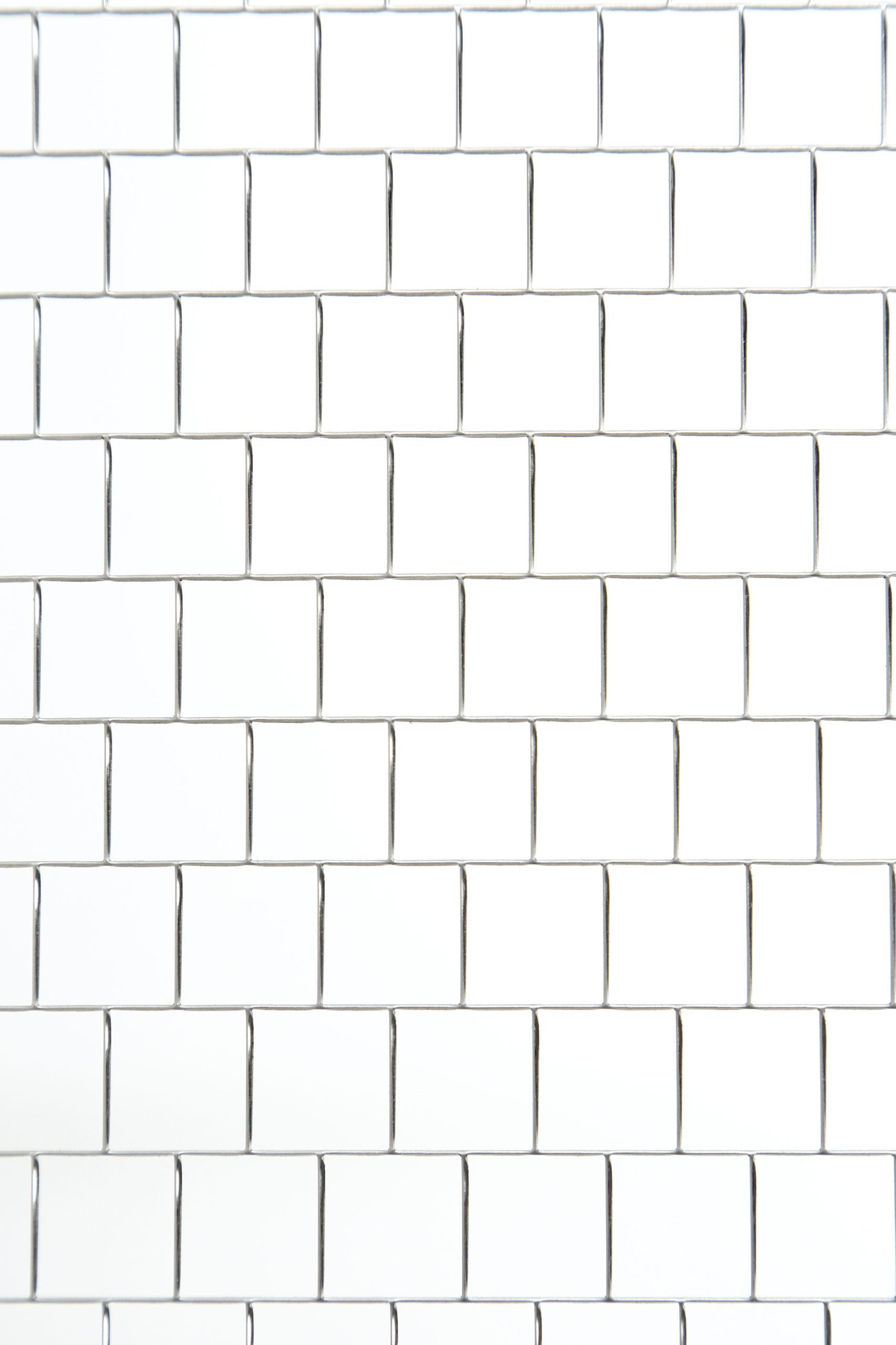SUS 304-2B t1.0 角孔 □15×P15.5 チドリ 開口率:93.7%