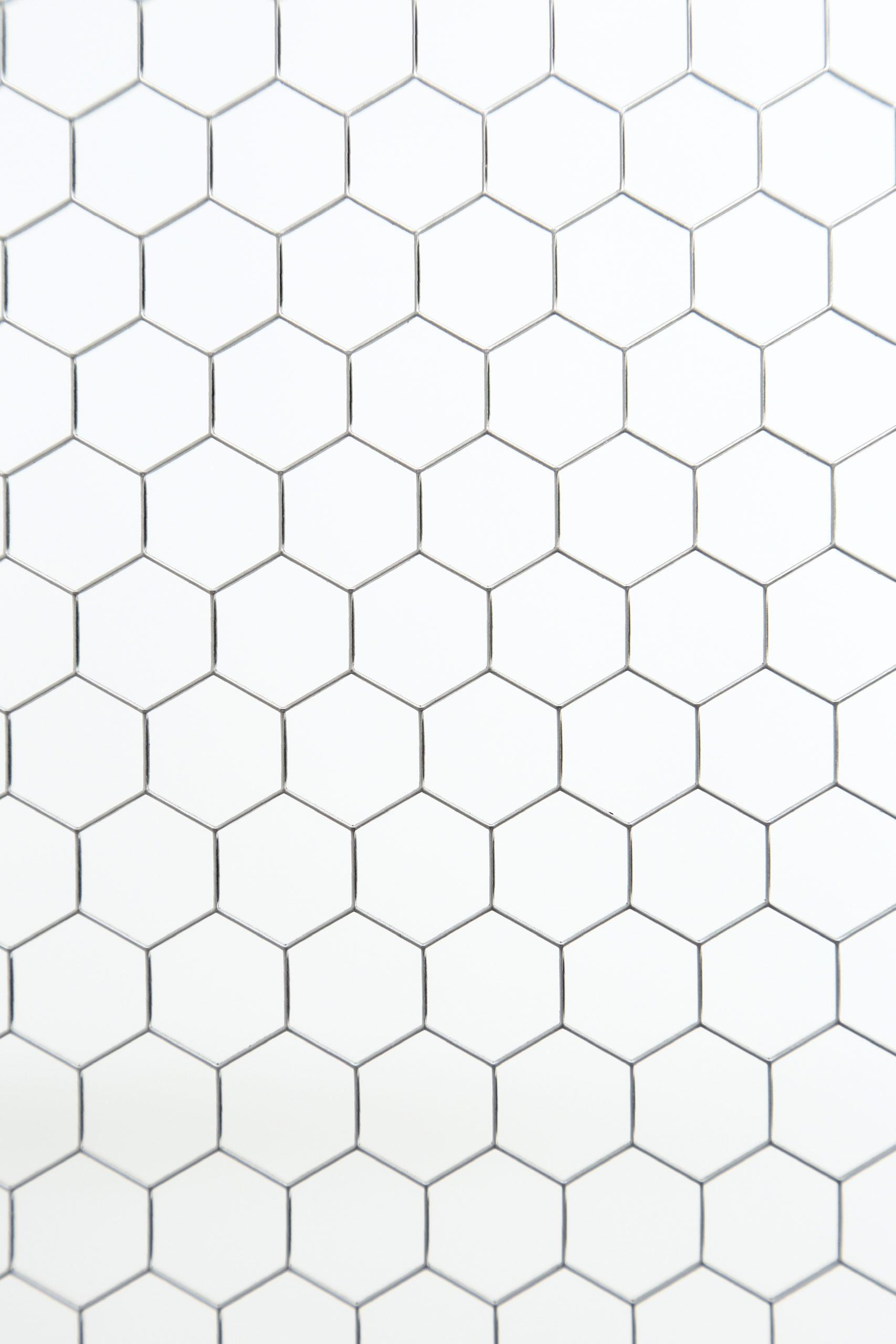 SUS 304-2B t1.0 六角形 W15×P15.5 60°チドリ 開口率:93.7%